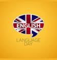 english language day logo icon design vector image vector image