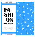 fashion concept poster with leopard vector image vector image