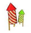 Firecracker icon cartoon style vector image vector image