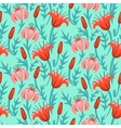floral pattern with tulips and lilies vector image vector image