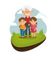 grandpa and grandchildren icon vector image