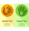 Hand holding hand vector image
