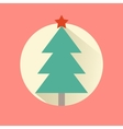 Happy New Year icon set of flat design christmas vector image vector image