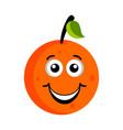 happy orange emoticon vector image vector image