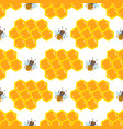 honey bee with linden blossom seamless pattern vector image vector image