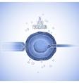 In vitor fertilisation vector image vector image