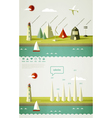 infographics elements with a lighthouse vector image