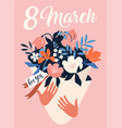 international womens day 8 march template vector image