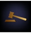 Justice hammer sign vector image vector image