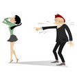 laughing man and crying woman vector image