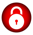 Lock symbol button vector image