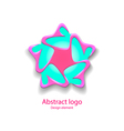 logo in the shape of a star design element vector image