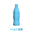 Low poly bottle isolated on white background vector image vector image