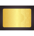Luxury golden card with vintage pattern vector image vector image