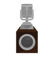 microphone on stand with speaker sound record and vector image
