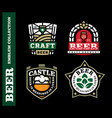 modern professional label set for a craft beer vector image vector image
