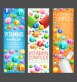 multivitamin health complex pills banners vector image vector image
