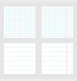 notebook paper texture cell lined template with vector image vector image