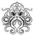 octopus ink tattoo sketch octopus vector image