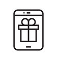 outline icon phone with box line icon tablet with vector image vector image