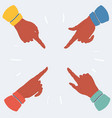 pointing finger on white background vector image vector image