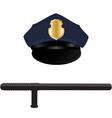 Policeman uniform vector image vector image