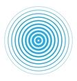 Radar screen concentric circle elements vector image