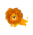 running gold cute lion in wild field safari vector image vector image