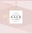 sales promotion banners trendy blush pink gold vector image vector image