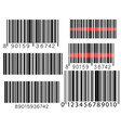 set barcodes isolated on white background vector image vector image