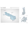 set finland country isometric 3d map finland vector image vector image