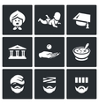 Set of Social Payment Icons Pension Child vector image vector image