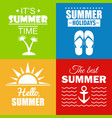 set of summer posters and cards vector image