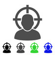 shoot person flat icon vector image
