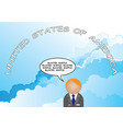 talking nonsense usa cloud vector image vector image