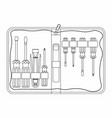 tool kit maintenance outline only vector image vector image
