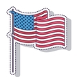 usa flag isolated icon design vector image vector image