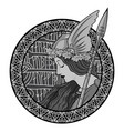 valkyrie to scandinavian mythology vector image vector image