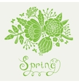 Vintage card with a blossoming branch vector image vector image