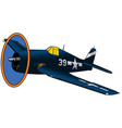 world war ii us navy fighter airplane vector image vector image