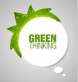 Green thinking bubble vector image