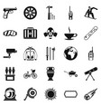 headpiece icons set simple style vector image