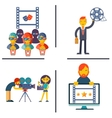 Cinema and Movie flat concept set vector image