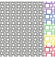 6 Seamless Patterns With Squares vector image vector image