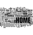 are homes toxic text word cloud concept vector image vector image