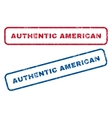 Authentic American Rubber Stamps vector image vector image