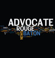 Baton rouge animal shelter text background word vector image
