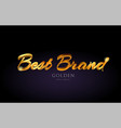 best brand gold golden text word on purple vector image