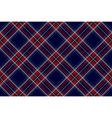 Blue red diagonal check fabric texture seamless vector image vector image