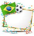 brazilian signboard soccer theme vector image vector image